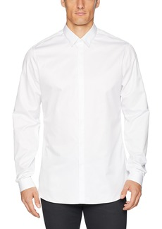 The Kooples Men's Men's Cotton Twill Shirt with a Concealed Button Placket  L