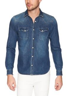 The Kooples Men's Men's Faded Denim Shirt  S