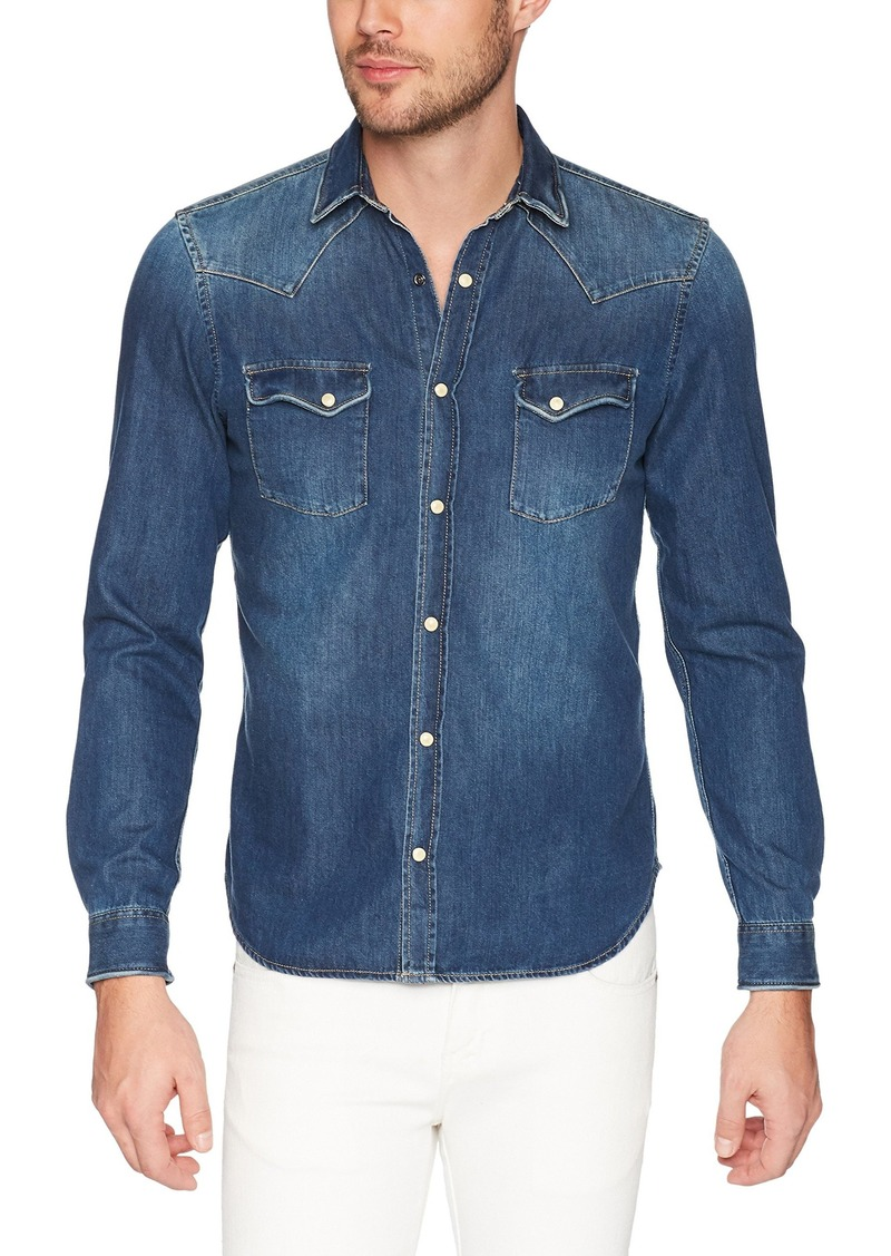 The Kooples Men's Men's Faded Denim Shirt  S