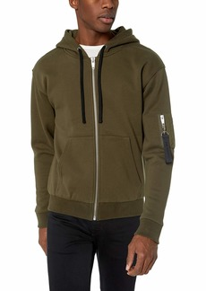 The Kooples Men's Men's Fleece Sweatshirt with Militaty Pocket On Sleeve  S