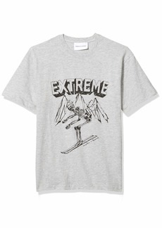 The Kooples Men's Men's Graphic T-Shirt with Print of Skeleton Skiing  L