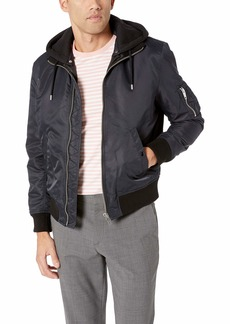 The Kooples Men's Men's Hooded Bomber Jacket  Extra Large
