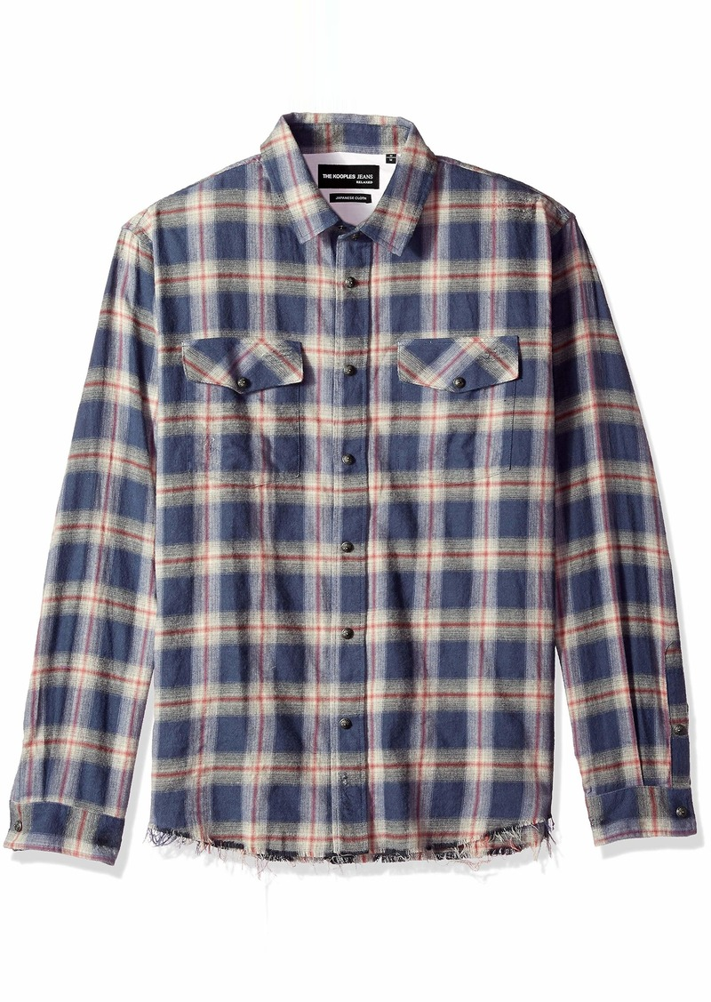 The Kooples Men's Men's Long Sleeve Button-Down Check Shirt