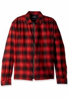 The Kooples Men's Men's Long Sleeve Check Shirt red/Black