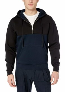 The Kooples Men's Men's Neoprene-Effect Fleece Hoodie
