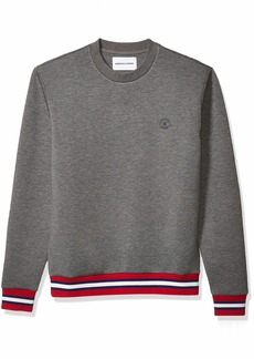 The Kooples Men's Men's Neoprene Sweatshirt with Contrasting Ribbed Detail  L