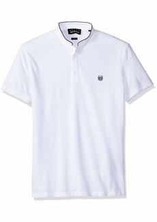 The Kooples Men's Men's Pique Polo Shirt with Stand Up Collar  S