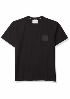 The Kooples Men's Men's Short-Sleeved Crewneck T-Shirt with a Relaxed Fit BLA01 Extra Large