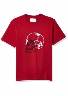 The Kooples Men's Men's Short-Sleeved T-Shirt with Skull Head Print  S