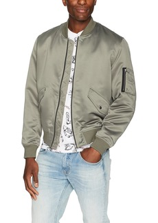 The Kooples Men's Men's Silk Bomber Jacket with Pockets KAK XL