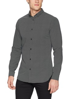 The Kooples Men's Men's Slim Button Down Shirt with Small Polka dots  L