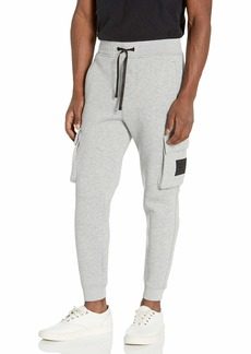 The Kooples Men's mens Slim Fit Joggers With Elasticized Waist Band Ankle Cuffs and Cargo Pockets Casual Pants   US