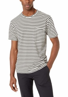 The Kooples Men's Men's Striped Jersey T-Shirt with Chest Pocket  Extra Large