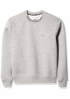 The Kooples Men's Men's Sweatshirt with Crewneck and Relaxed Fit GRY30