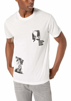 The Kooples Men's T-Shirt with Patch-Style Print