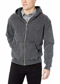 The Kooples Men's Men's Washed Out Hooded Fleece Sweatshirt Black