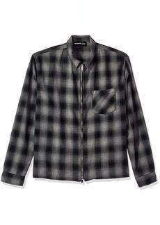 The Kooples Men's Men's Zip Up Collared Shirt in a Check Print