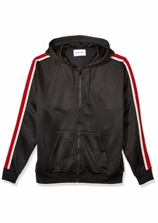 The Kooples Men's Men's Zip-up Hooded Sweatshirt with Contrast Band