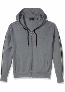 The Kooples Men's Men's Zip-up Hooded Sweatshirt with Contrasting Armband  S