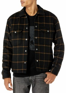 The Kooples Men's  Wool Jacket with Yellow Check Motif