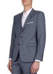 The Kooples Micro-Weave Slim Fit Blazer