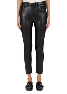 The Kooples Mid-Rise Cropped Skinny Faux-Leather Pants
