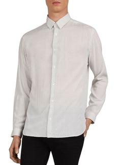 The Kooples Mini Dots Slim Fit Shirt