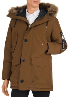 The Kooples Mix Hooded Parka