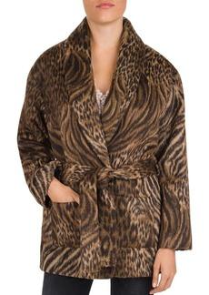 The Kooples Mixed Tiger & Leopard-Print Coat