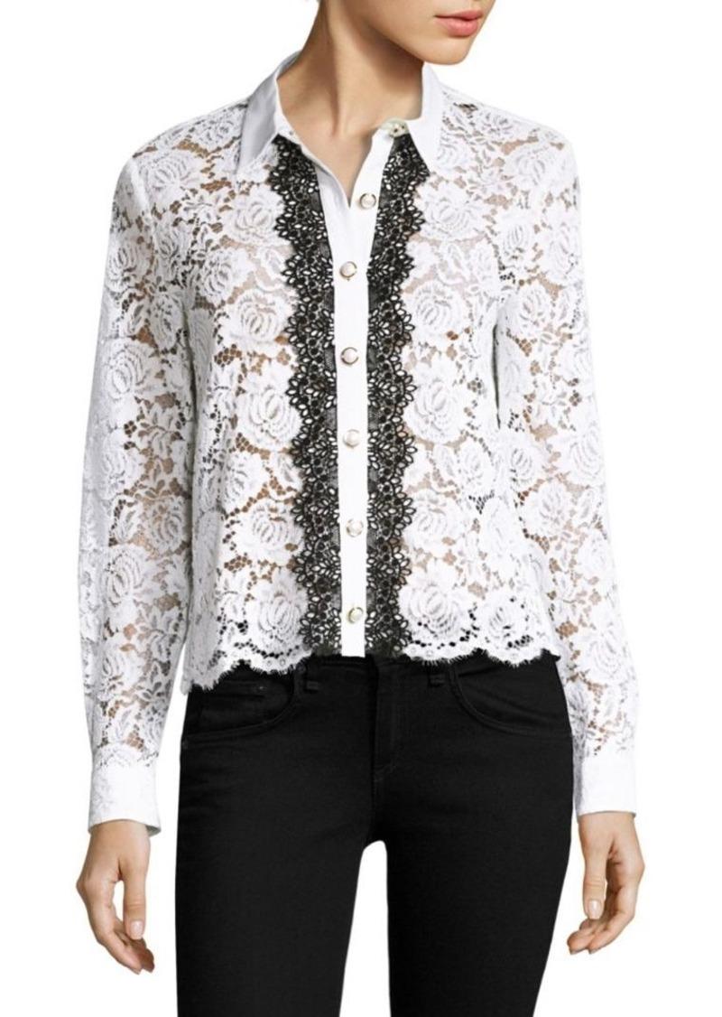 5ee5ed15e0 The Kooples The Kooples Moonlight Long Sleeve Lace Shirt   Casual Shirts