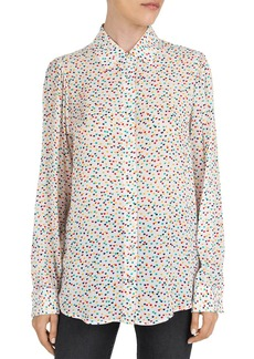 The Kooples Multicolor Heart-Pattern Shirt