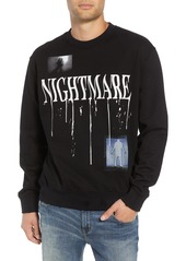 The Kooples Nightmare Graphic Distressed Sweatshirt