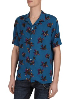 The Kooples Orchid Print Regular Fit Shirt