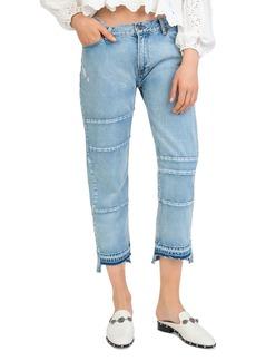 The Kooples Paneled Step-Hem Jeans
