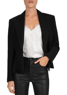The Kooples Peak-Lapel Wool-Blend Peplum Blazer
