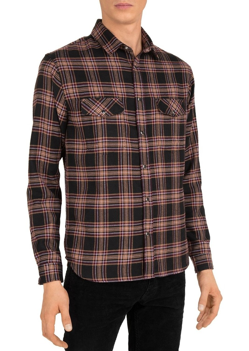 The Kooples Plaid Print Shirt