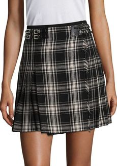 The Kooples Pleated Checked Skirt