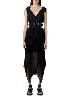 The Kooples Pleated Skirt Midi Dress