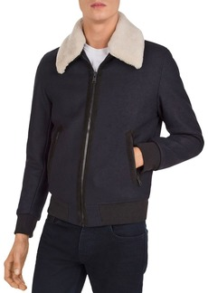 The Kooples Redding Shearling-Collar Jacket