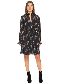 The Kooples Robe a Manches Longues Imprimee Rossignol En Polyester