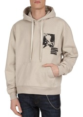 The Kooples Rock N' Roll Fleece Hoodie