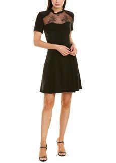 The Kooples Ruffle Silk A-Line Dress