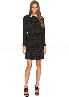 The Kooples Shirt-Style Dress with Lace Stripe on the Sleeves