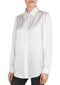The Kooples Silk Button-Down Shirt