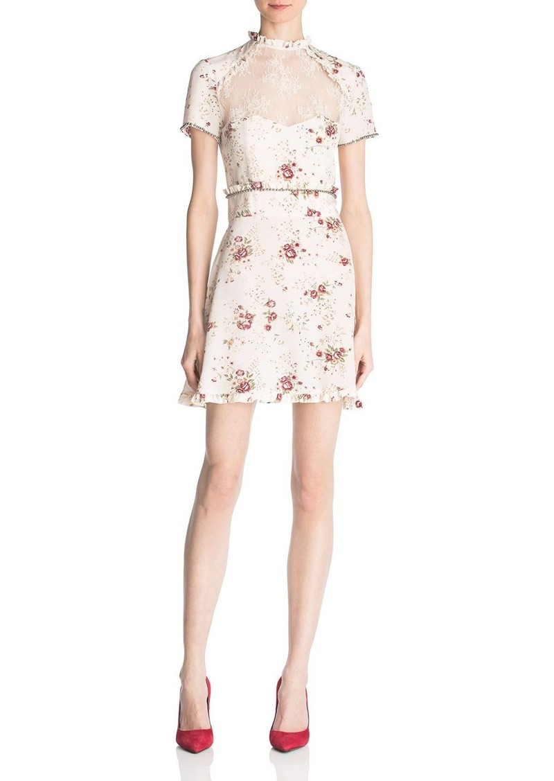 The Kooples Silk Floral Print Dress