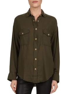 The Kooples Snap-Front Cotton Shirt