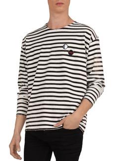 The Kooples Striped Cotton Crewneck Long-Sleeve Tee