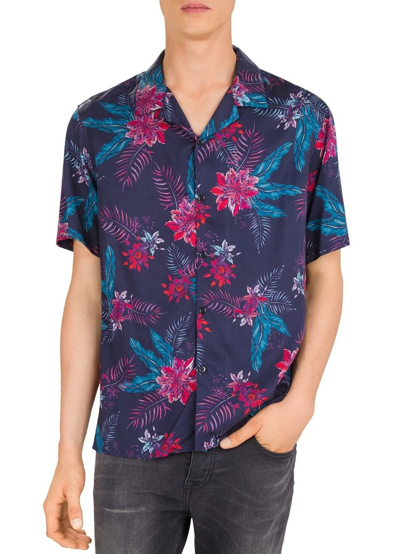 The Kooples Tropical Bouquet Regular Fit Shirt
