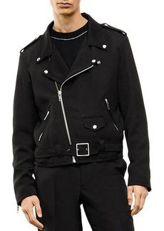 The Kooples Twill Moto Jacket