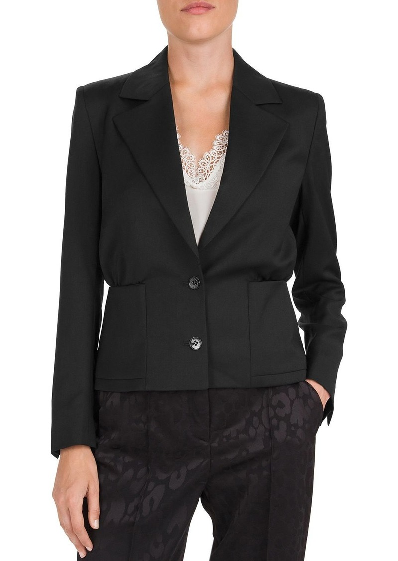 The Kooples Two-Button Wool-Blend Peplum Blazer
